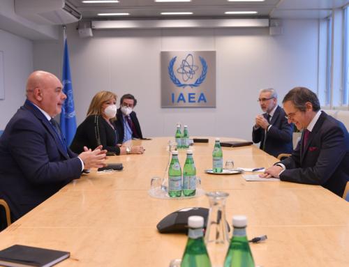 El presidente del Grupo ENUSA, José Vte. Berlanga se reúne con Rafael Grossi, Director General del OIEA en su sede de Viena